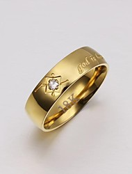 cheap -Lureme®Men's  Gold Plated Steel Ring