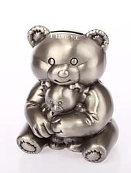 Недорогие -персонализированные кольцо на предъявителя медвежонок Эшбери металла копилку
