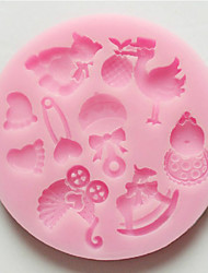 Mold 3D Cartoon For Cake For Cookie For Pie Silicone  Nonstick Random Color