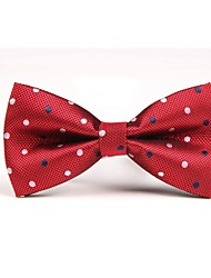 cheap -Men's Polyester Bow Tie,Vintage Party Work Casual All Seasons Red