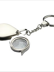 cheap -Portable Folding Stainless Steel 5X Magnifier with Keychain