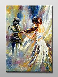 Dipinta a mano Ritratti astratti Un Pannello Tela Hang-Dipinto ad olio For Decorazioni per la casa