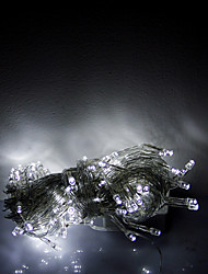 10m 100 LED Weihnachten Halloween dekorative Lichter festlich Streifen Lichter-gewöhnliche weiße Lichterkette (220 V)
