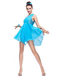 billige -Ballet Kjoler Dame Chiffon / Pailletter / Moderne Dans / Opvisning