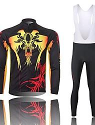 XINTOWN Camisa com Calça Bretelle Homens Manga Longa Moto Calções Bibes Tights Bib Camisa/Roupas Para Esporte Conjuntos de Roupas