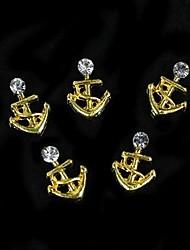 baratos -10pcs modelo barco liga 3d dourado para as pontas dos dedos diy acessórios de jóias da arte do prego decoração