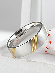 cheap -Personalized Gift  Fashionable Stainless Steel Jewelry Engraved  Men's Ring 0.6cm Width