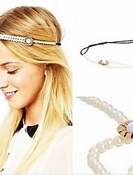 preiswerte -shixin® Mode Blütenform Perle elastisches Stirnband (1 PC)