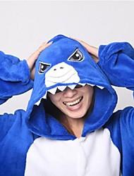Недорогие -Кигуруми Shark Цельные пижамы Коралловый флис Косплей Для Универсальные Нижнее и ночное белье животных Мультфильм Фестиваль / праздник костюмы