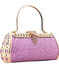 Women Bags All Seasons Other Leather Type Evening Bag for Event/Party Gold Fuchsia