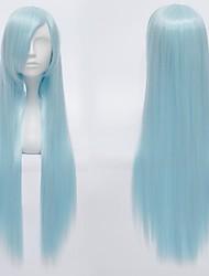 Parrucche Cosplay Kuroko no Basket Cosplay Blu Lungo Anime Parrucche Cosplay 80 CM Tessuno resistente a calore Uomo / Donna