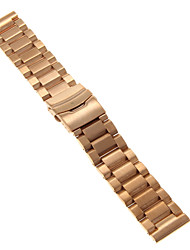 cheap -Men's Women's Watch Bands Stainless Steel #(0.09) #(24 x 2.4 x 0.3) Watch Accessories