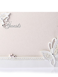 Guest Book Resin Garden ThemeWithRhinestones Wedding Ceremony