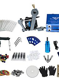 baratos -1 arma concluir nenhum kit tinta de tatuagem com a chave em forma de máquina de tatuagem e fonte de alimentação lcd tela