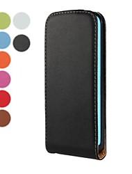 cor sólida abrir cima e para baixo de couro pu caso de corpo inteiro para iphone 5-C (cores sortidas)