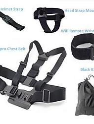 Brystbælte Hovedrem Tasker Håndremme Smarte fjernbetjeninger Til Action Kamera Gopro 5 Nylon