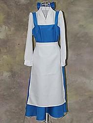 Недорогие -Красавица и чудовище серия синий и белый наряды горничной