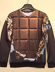 baratos -Homens Clássico Moletom - Fashion, Xadrez
