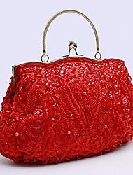 Mulheres Bolsas Couro Ecológico Outros Tipos de Couro Bolsa de Festa para Festa/Eventos Todas as Estações Vermelho Verde Rosa claro Vinho