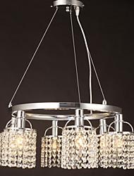 Недорогие -SL® Кристаллы Подвесные лампы Рассеянное освещение Прочее Металл Хрусталь 110-120Вольт / 220-240Вольт / E12 / E14
