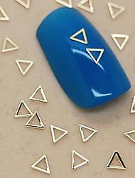 economico -200pcs forma di triangolo cava metallo dorato decorazione di arte del chiodo della fetta
