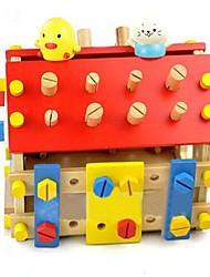 Недорогие -красочные деревянные съемными блоки дома игрушки