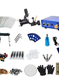 preiswerte -1 Pistole abzuschließen keine Tinte Tattoo-Set mit schwarzen Tattoo-Maschine und blauen Aluminiumlegierung Strom