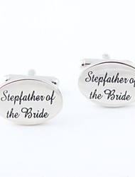 "cheap -Men's Party/Evening Groom/Groomsman ""Stepfather Of The Bride"" Brass Cufflinks"