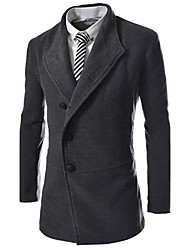 cheap -Men's Classic & Timeless Coat-Solid Color,Pure Color
