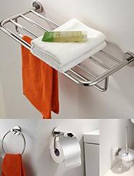 Недорогие -аксессуары из нержавеющей стали 4 шт Набор для ванной комнаты