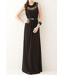 De cuello redondo de la Mujer Vestido de confección sin mangas
