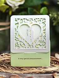 12 Peça/Conjunto Titular Favor-Cubóide Papel de Cartão Caixas de Ofertas não-personalizado