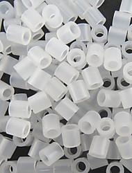 circa 500pcs 5 millimetri chiaro trasparente perline Perler fusibile perline hama perline fai da te materiale puzzle eva safty per i bambini