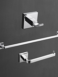 cheap -Bathroom Accessory Set High Quality Contemporary Brass 3pcs - Hotel bath tower bar Robe Hook Toilet Paper Holders