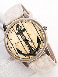 baratos -Mulheres Relógio de Pulso Venda imperdível Banda Vintage / Fashion Azul / Verde / Ivory / Um ano / SSUO LR626