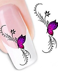 cheap -1 Water Transfer Sticker 3D Nail Stickers Flower Fashion Wedding Daily High Quality