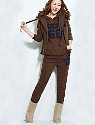 Women's New Number 68 Hood  Sweater Three Piece  Suit (coat&pant&shirt)