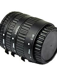 enfoque automático tubo de extensión macro para Canon EOS EF-S EF con aluminio al horno montaje lacado negro