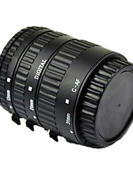foco automático tubo de extensão macro para Canon EOS EF EF-S com alumínio cozido montar laca preta