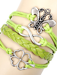 cheap -Unisex Chain Bracelet Silver / Alloy / Leather / Rope Non Stone