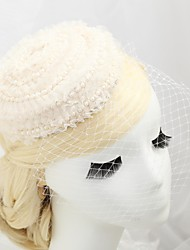Women's Flower Girl's Lace Imitation Pearl Flannelette Headpiece-Wedding Special Occasion Outdoor Fascinators Hats