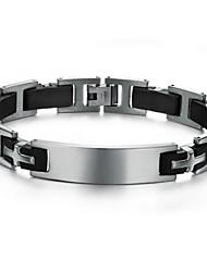 Недорогие -Z&X® мужская мода направленности личности браслет силиконовые браслеты титана