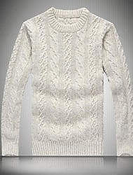 Men's  Round Collar Up to Keep Warm Sweater Knit