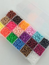 Approx 5400PCS 18 Mixed Color 5MM Fuse Beads Set Hama Beads DIY Jigsaw EVA Material Safty for Kids(Set B,18*300PCS)