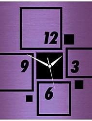3D DIY современный стиль новая акриловая квадрат зеркало настенные часы