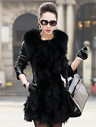 billige -Women's Fashion Luxury Big Lapel  Imitation Fur Warm Coat