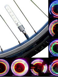 Bike Lights Wheel Lights Valve Cap Flashing Lights LED Cycling Cell Batteries Lumens Battery Cycling/Bike