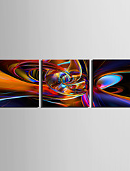 economico -Stampa trasferimenti su tela Abstract Art High Way Set di 3