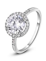 abordables -Femme Cristal / Plaqué or / Imitation Diamant Anneau de déclaration - Classique Argent / Doré Bague Pour Mariage / Soirée / Quotidien