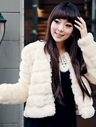 personalidade da moda imitação da pele das mulheres casaco quente curto